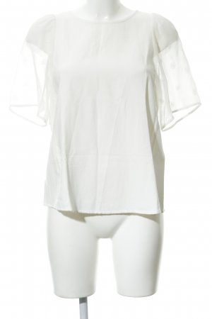 Hallhuber Donna Short Sleeved Blouse natural white romantic style