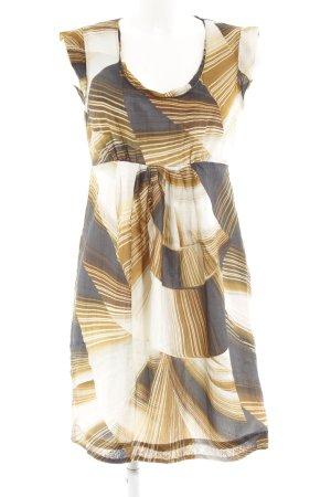Hallhuber Donna Kurzarmkleid abstraktes Muster Elegant
