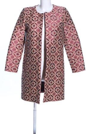 Hallhuber Donna Kurzmantel pink-wollweiß abstraktes Muster Elegant