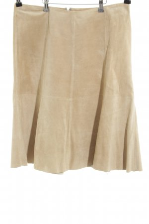 Hallhuber Donna Leather Skirt cream casual look