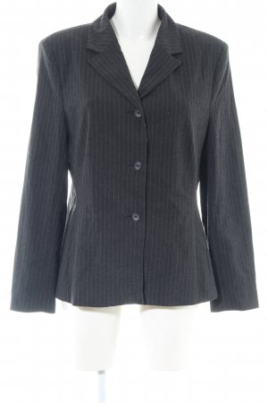 Hallhuber Donna Long-Blazer hellgrau Streifenmuster Business-Look