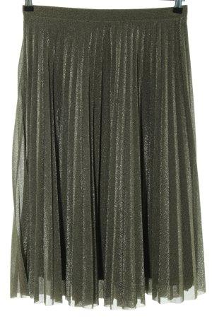 Hallhuber Donna Midirock goldfarben-schwarz Elegant
