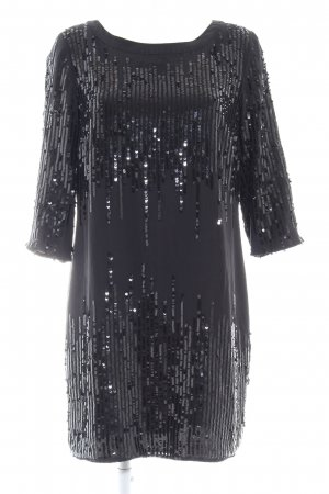 Hallhuber Donna Vestido de lentejuelas negro brillante