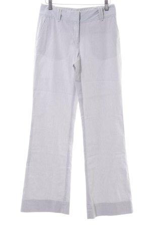 Hallhuber Donna Schlaghose weiß-blau Streifenmuster schlichter Stil