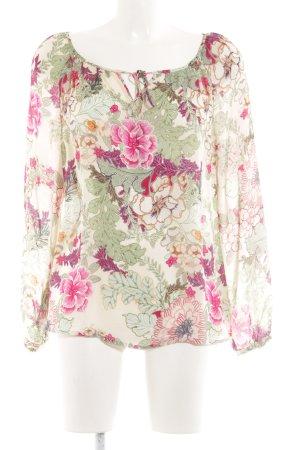 Hallhuber Donna Schlupf-Bluse Blumenmuster Elegant