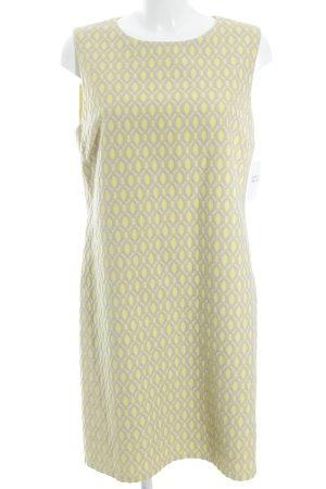 Hallhuber Donna schulterfreies Kleid gelb-beige grafisches Muster Elegant