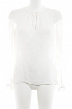 Hallhuber Donna Blusa in merletto crema stile casual