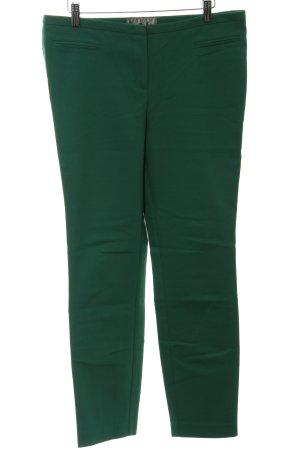 Hallhuber Donna Pantalon en jersey vert forêt style décontracté
