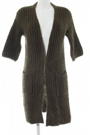 Hallhuber Donna Strick Cardigan khaki Zopfmuster Casual-Look