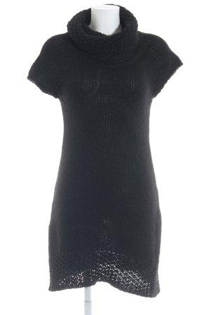 Hallhuber Donna Strickkleid schwarz Kuschel-Optik