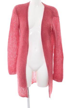 Hallhuber Donna Strickmantel pink Casual-Look