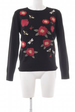 Hallhuber Donna Knitted Sweater flower pattern casual look