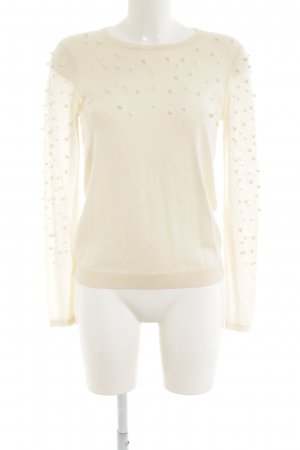 Hallhuber Donna Strickpullover creme Casual-Look