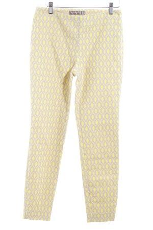 Hallhuber Donna Pantalon de jogging jaune fluo-beige style décontracté