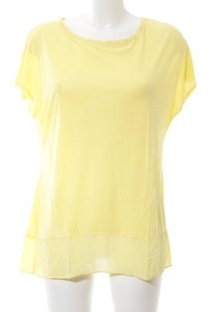 Hallhuber Donna T-Shirt blassgelb Casual-Look