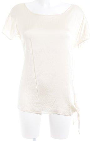 Hallhuber Donna Camiseta beige claro-crema elegante