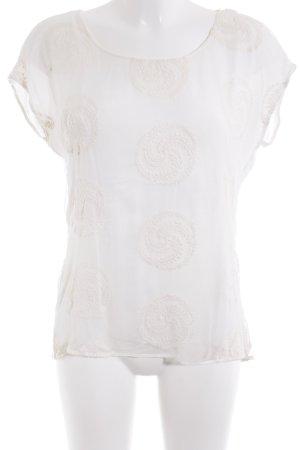 Hallhuber Donna T-Shirt wollweiß Elegant