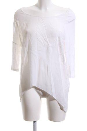 Hallhuber Donna Transparenz-Bluse weiß Business-Look