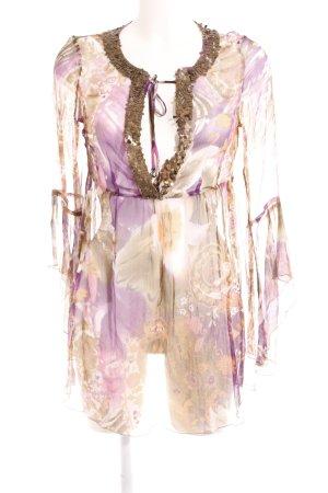 Hallhuber Donna Transparenz-Bluse florales Muster Transparenz-Optik