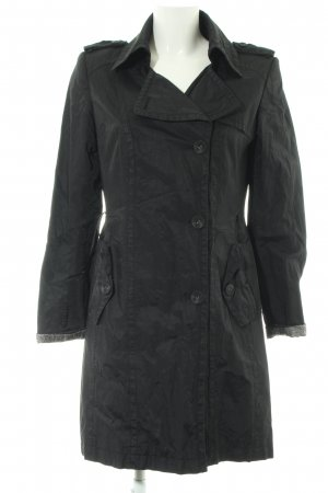 Hallhuber Donna Trenchcoat schwarz Casual-Look