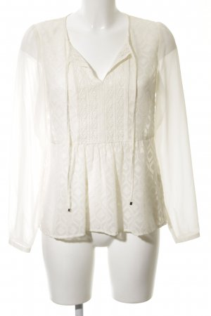 Hallhuber Donna Tunikabluse weiß-creme Elegant