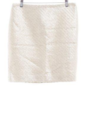 Hallhuber Donna Falda Tweed blanco puro look casual