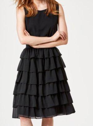 Hallhuber Donna Volant Kleid gr 34 Etikette schwarz New Collection