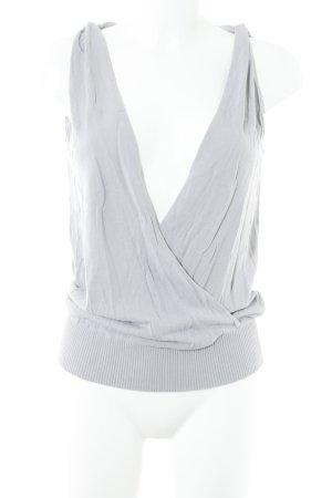 Hallhuber Donna Camisa cruzada gris claro look casual