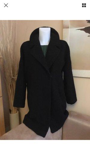 HALLHUBER DONNA Wollmantel / Oversize Mantel in Schwarz Gr.36-38, ein Blickfang!