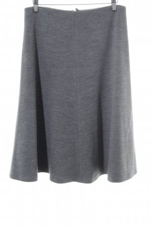 Hallhuber Donna Wool Skirt grey-light grey flecked casual look