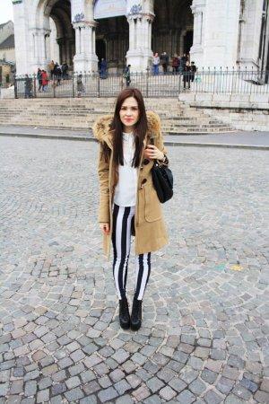 Hallhuber Dufflecoat camel Street-Fashion-Look