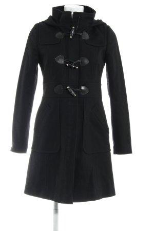 Hallhuber Duffel Coat black business style