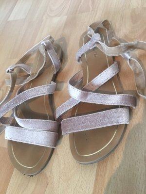 Hallhuber Romeinse sandalen stoffig roze