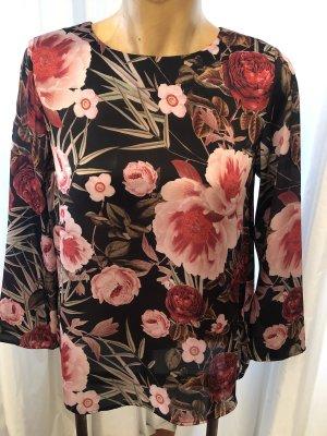 Hallhuber: Elegante Bluse mit Blumenprint