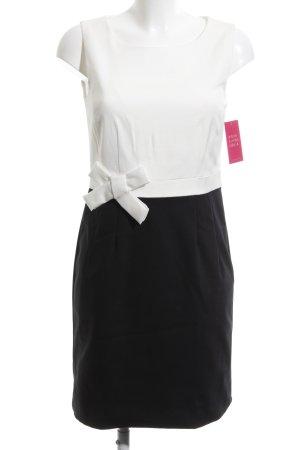Hallhuber Etuikleid schwarz-weiß Business-Look