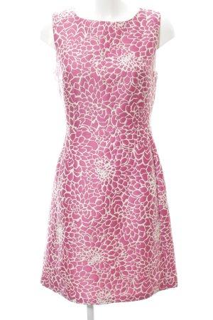 Hallhuber Etuikleid pink-weiß Allover-Druck Elegant