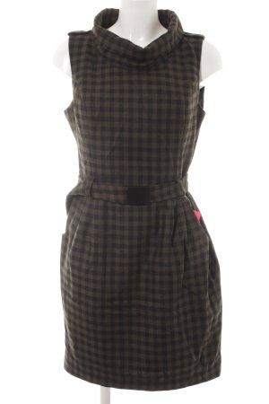 Hallhuber Sheath Dress green grey-black check pattern simple style