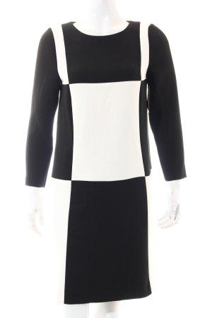 Hallhuber Etuikleid weiß-schwarz Elegant