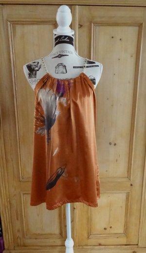 Hallhuber Tunique de plage orange foncé polyester