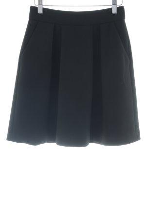 Hallhuber Jupe à plis noir style décontracté