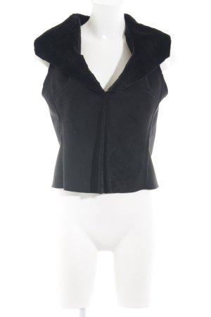 Hallhuber Fur vest black casual look