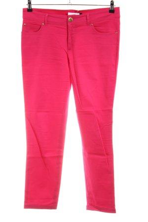 Hallhuber Pantalon cinq poches rose style décontracté