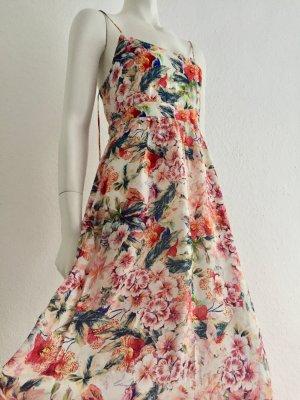 Hallhuber Floral Silk Maxikleid Dress Blumen Gr. 34 New