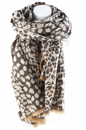 Hallhuber Fringed Scarf animal pattern casual look