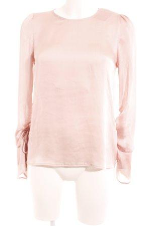 Hallhuber Blusa brillante rosa empolvado moteado elegante