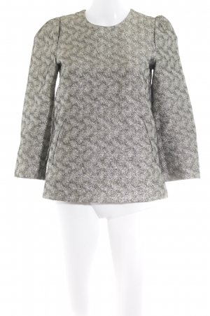 Hallhuber Splendor Blouse light grey-silver-colored flecked elegant