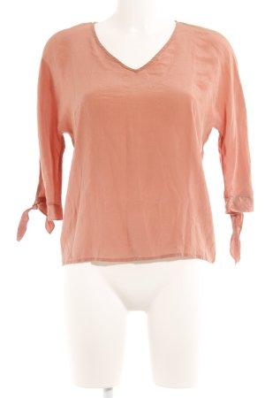 Hallhuber Glanzbluse lachs-rosé Elegant