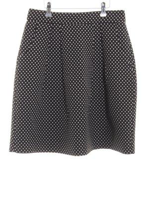 Hallhuber Glockenrock schwarz-weiß Punktemuster Casual-Look