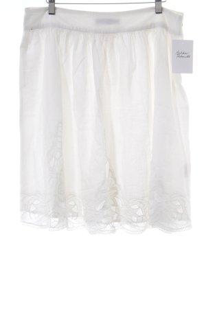 Hallhuber Jupe évasée blanc motif de fleur style décontracté