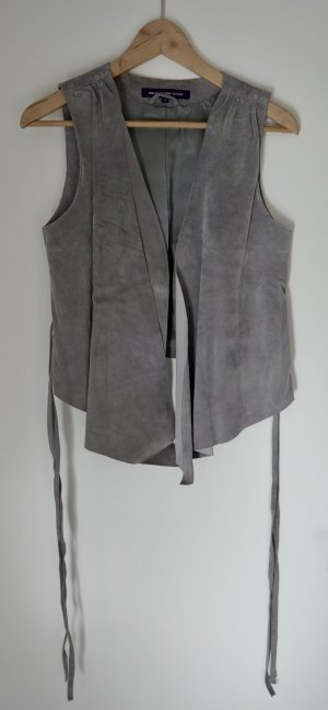 Hallhuber Leather Vest grey
